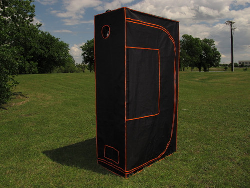 "Grow Tent 07 - 100% Mylar 600D Reflective Greenhouse for Hydroponics 48""x24""x84"""
