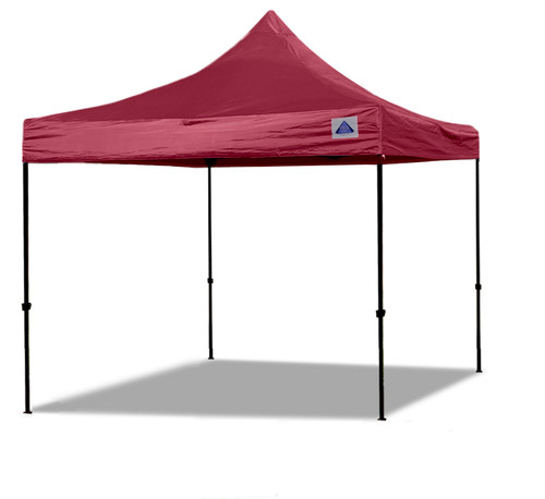 10'x10' D/S Model Maroon - Pop Up Canopy Tent EZ  Instant Shelter w Wheel Bag + Sand Bags + 4 Walls