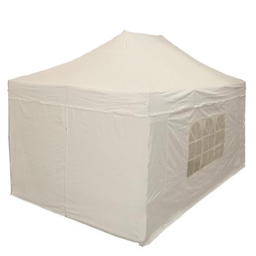 10'x15' D/W Model White - Pop Up Canopy Tent w/ Wheel Bag