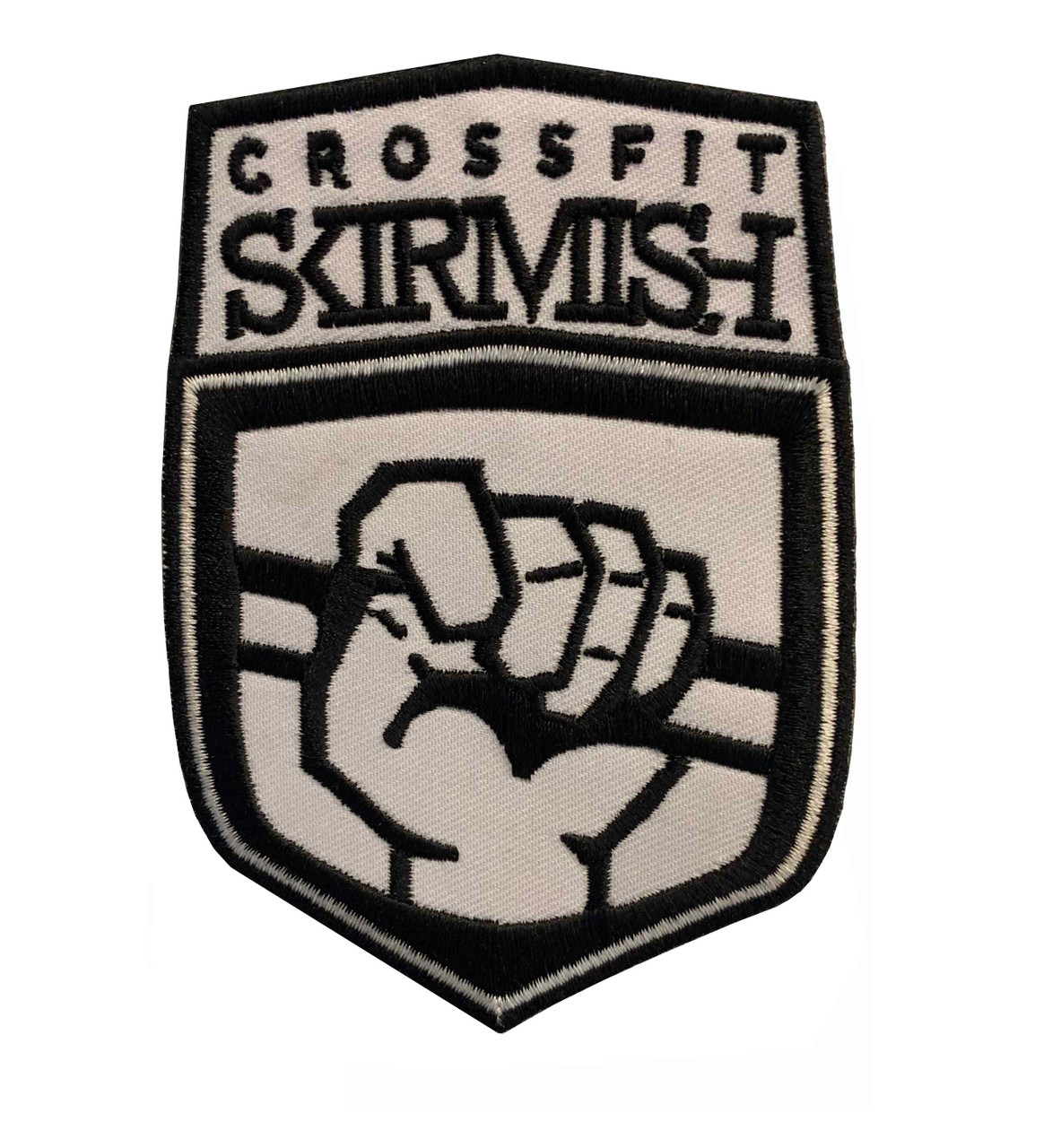 CrossFit Skirmish  Embroidered Patch VELCRO® Brand Backing Weightlifting Gym Bag