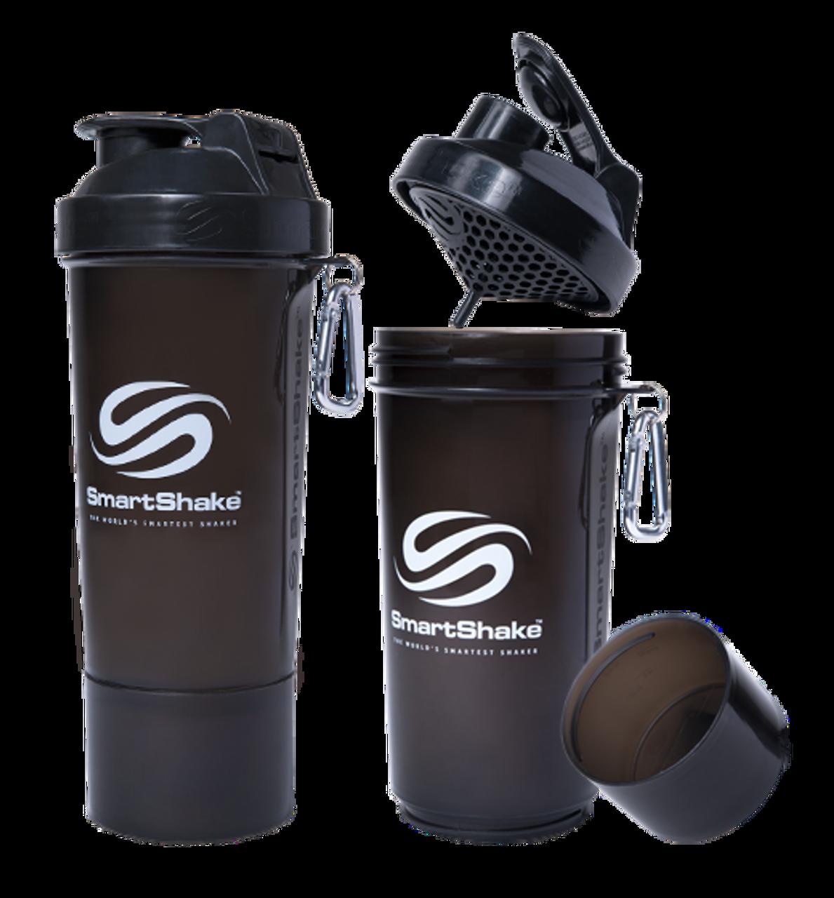 SmartShake Slim 500ml //17oz Smart Shaker Bottle Mixer Blender Whey Protein Shake