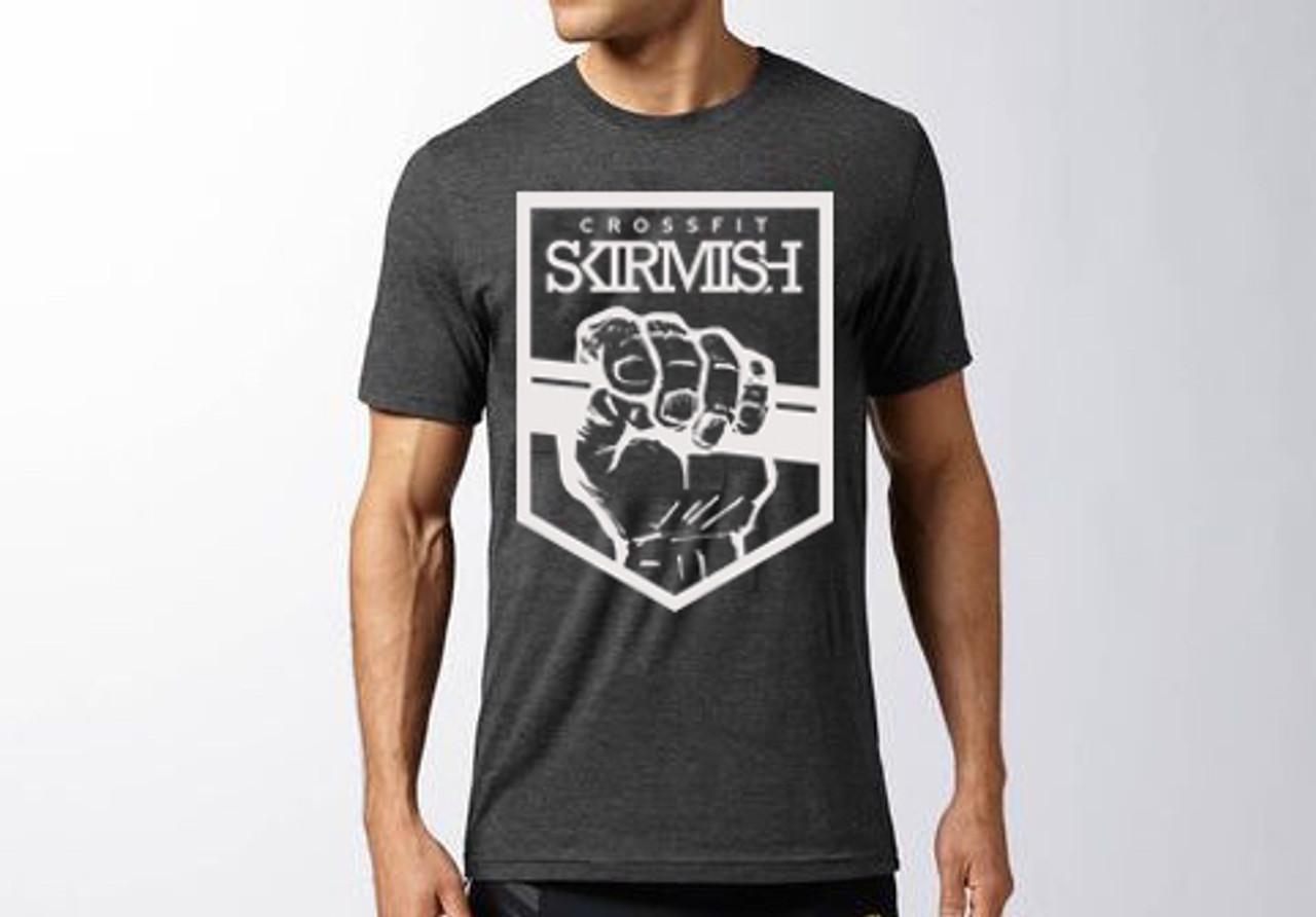 CrossFit Skirmish Unisex WOD Training Top T-shirt Black /& Yello Gold Fitness