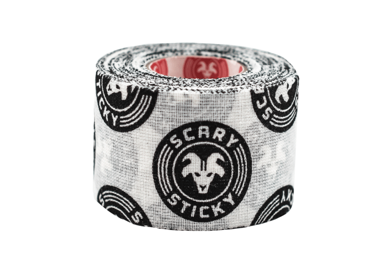 Goat Tape Scary Sticky Premium Athletic Weightlifting Tape White and Black