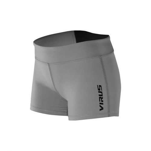VIRUS | ECO22 | STAY COOL DATA TRAINING SHORT | Grey Black  - www.BattleBoxUk.com