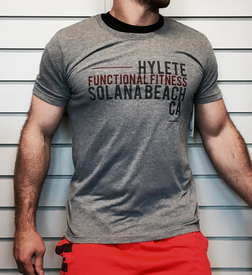 Hylete Functional Fitness HQ tri-blend crew tee (heather gray/gun metal) www.battleboxuk.com