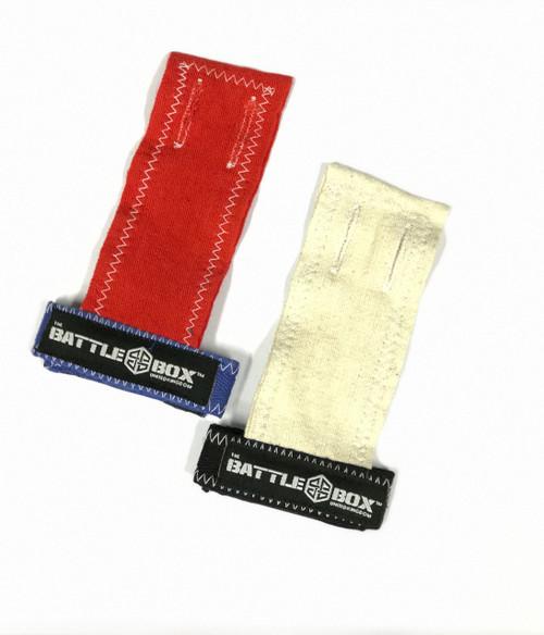 BattleBoxUK Gymnastic Grips Red White - www.BattleBoxUk.com