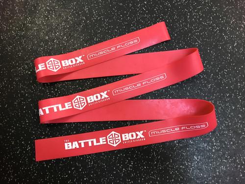 "BattleBox UK™ 2"" Muscle Floss Mobility Band Heavy Red 7ft - www.BattleBoxUk.com"