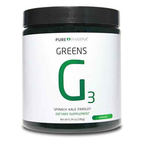 PurePharma G3 Greens Unflavored (Spinach,Kale,Parsley) www.battleboxuk.com