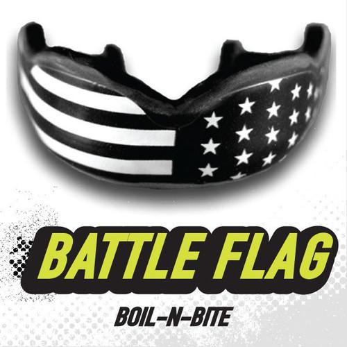 DAMAGE CONTROL Battle Flag HIGH IMPACT MOUTHGUARD - www.BattleBoxUk.com