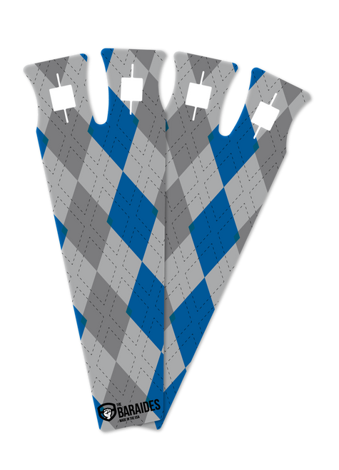 The BarAides RX 2.0 Argyle Blue Hand Protection Gymnastic Grips - www.BattleBoxUk.com