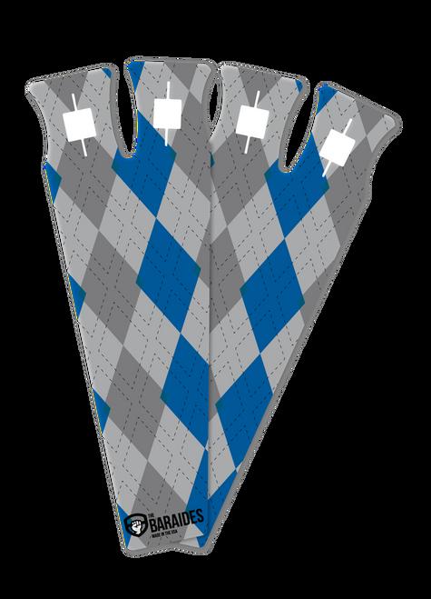 The BarAides RX 2.0 Argyle Blue Hand Protection Gymnastic Grips - www.BattleBoxUk.com