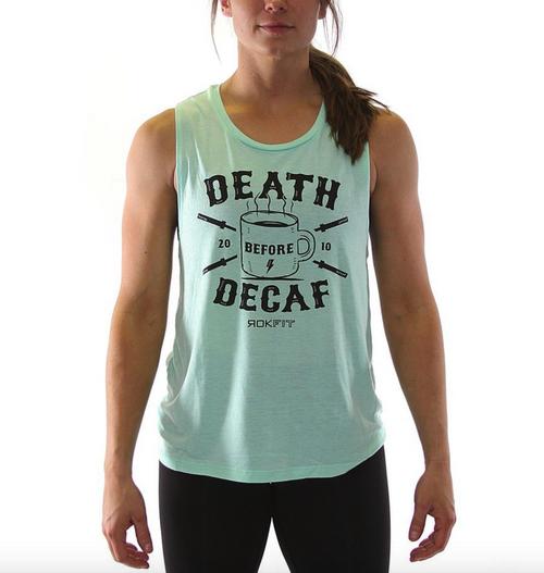 DEATH BEFORE DECAF Mint, Heather Asphalt www.battleboxuk.com