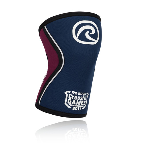 REHBAND RX KNEE SUPPORT 5MM, LIMITED EDITION 2017 REEBOK CROSSFIT GAMES NAVY/BURGUNDY www.battleboxuk.com