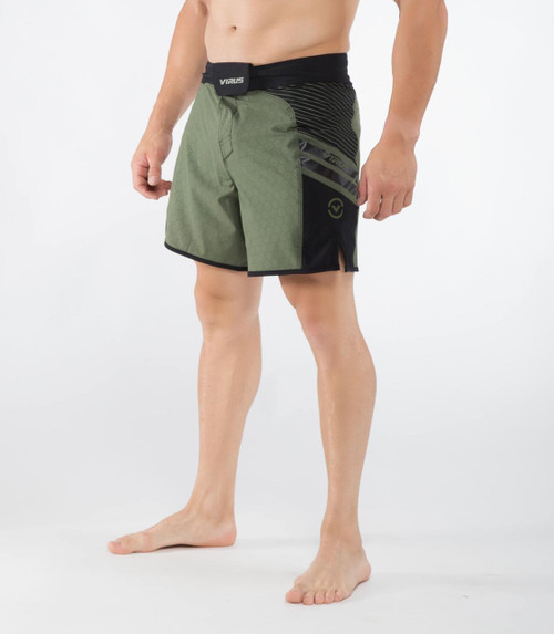 VIRUS MEN'S DISASTER II COMBAT SHORTS (ST2) OLIVE/GREEN WWW.BATTLEBOXUK.COM