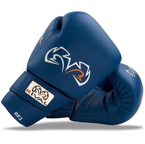 Rival Boxing RF3 Fighting Training Gloves Blue www.battleboxuk.com