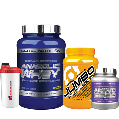 Scitec Nutrition Lean Gainer Stack Anabolic Whey Amino Acids Jumbo Pro