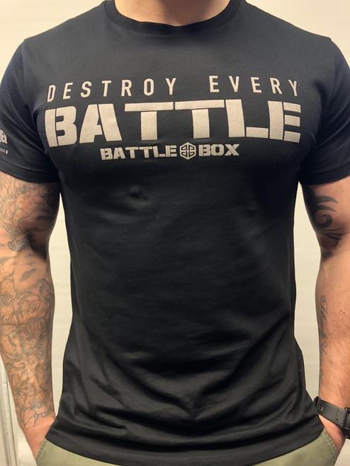 "BattleBox UK™ ""DESTROY EVERY BATTLE"" BLACK T-SHIRT"