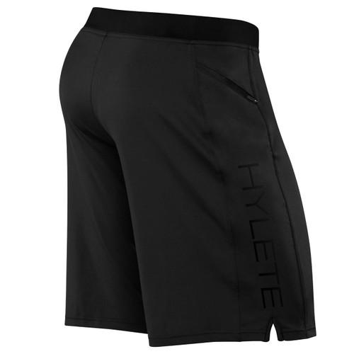 Hylete Vertex II Flex-Knit Zip Pocket Short Black