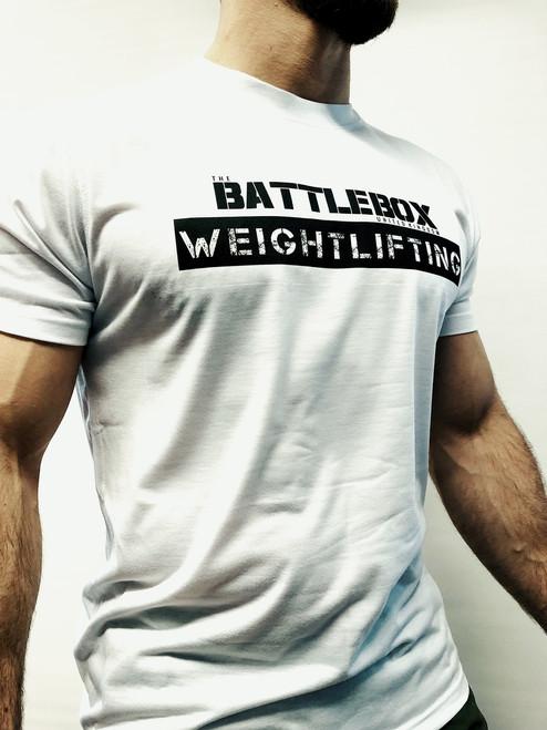 BattleBox UK™ Weightlifting Tee | White/Black  - www.BattleBoxUk.com