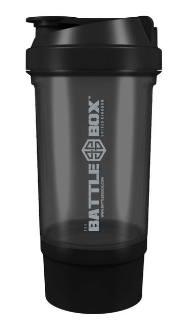 BattleBoxUK 500ml Protein Shaker Black Grey - www.BattleBoxUk.com