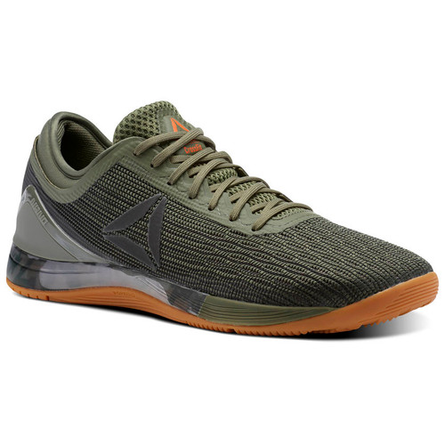 MEN CROSSFIT REEBOK CROSSFIT NANO 8 FLEXWEAVE Hunter Green/Coal/Khaki/Bright Lava - www.BattleBoxUk.com