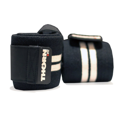 "THORN+FIT | WRIST WRAPS 12"" WHITE WWW.BATTLEBOXUK.COM"