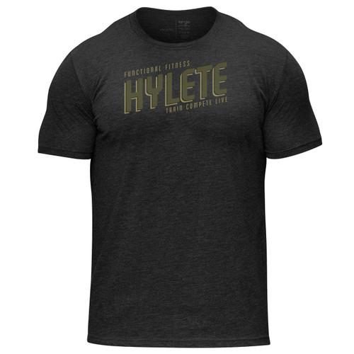 Hylete | Marquee Tri-Blend Crew Tee | Vintage Black/Olive www.battleboxuk.com