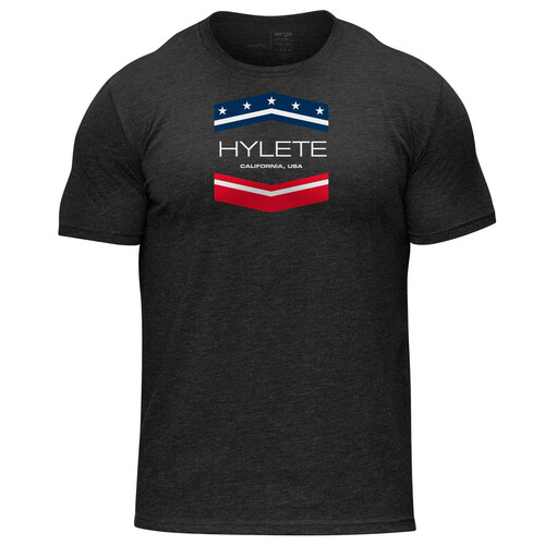 Hylete | Chevron Tri-Blend Crew Tee | Vintage Black/USA www.battleboxuk.com