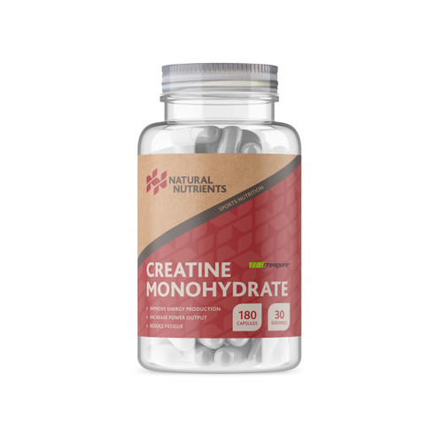 Natural Nutrients | Creatine Monohydrate - 180 Capsules Creapure®