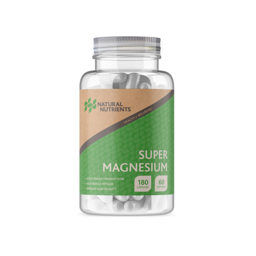 Natural Nutrients | Super Magnesium Assist energy, reduce fatigue | 180 Cap