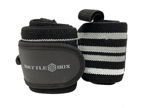 "BattleBox UK™12"" Weight Lifting Wrist Wraps  - www.BattleBoxUk,com"