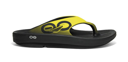 OOFOS MEN'S OORIGINAL SPORT YELLOW Recovery Footwear Slide In Flip Flop Sandal www.BattleBoxUk.com