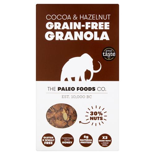 THE PALEO FOODS CO | COCOA & HAZEL GRAIN-FREE GRANOLA | 300G www.battleboxuk.com