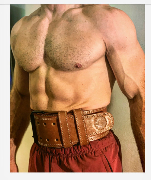 BattleBox UK™ | Weightlifting Heavy Duty Leather Belt | Brown  www.battleboxuk.com