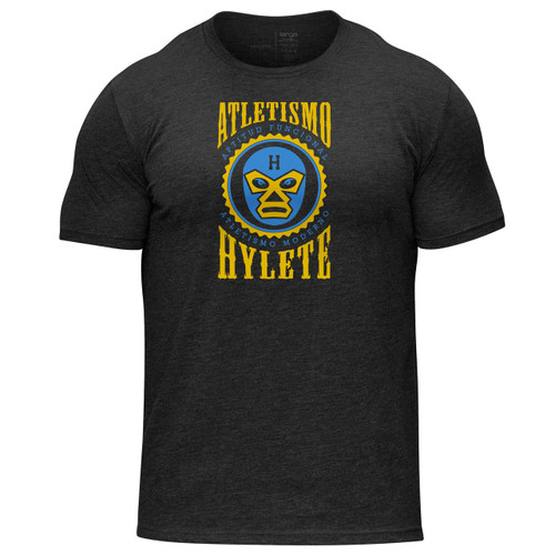 Hylete | Lucha libre | Tri-blend Crew tee | vintage black/golden  www.battleboxuk.com
