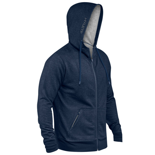 HYLETE | Linear Tech Hoodie | navy/cool gray www.battleboxuk.com