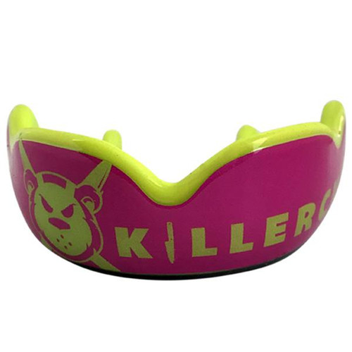DAMAGE CONTROL Killer Cub Pink HIGH IMPACT MOUTHGUARD GUM SHIELDS + FREE CASE - www.BattleBoxUk.com