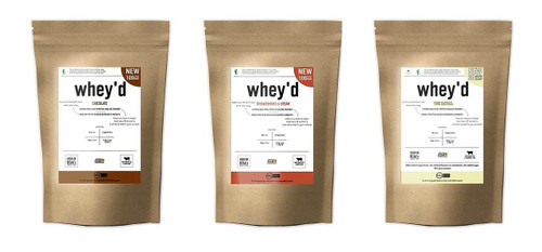 WHEY'D PROTEIN BAGS | 30 SERVINGS WWW.BATTLEBOXUK.COM