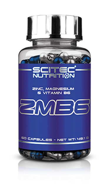 SCITEC NUTRITION |  ZMB6 | Zink | Magnesium Vit B6 ZMA Testosterone Booster