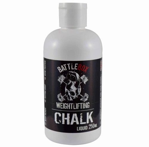 BATTLEBOX WEIGHTLIFTING™ | 250ml Premium Liquid Chalk For Rock Climbing Gymnastics Gym Pole Dancing WeightLifting - www.BattleBoxUk.com