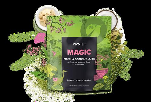 VIVO LIFE MATCHA COCONUT LATTE Adaptogenic Mushroom Latte Vegan and Paleo  - www.BattleBoxUk.com
