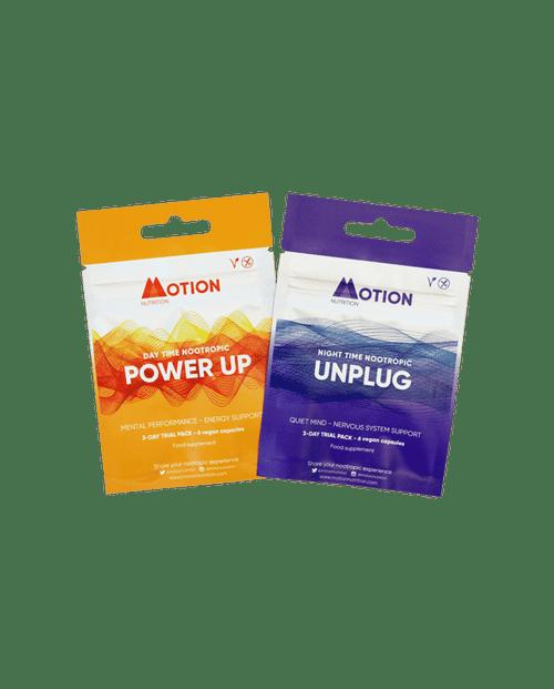Motion Nutrition | Nootropics | Power Up + Unplug 3-Day Sampler  www.battleboxuk.com