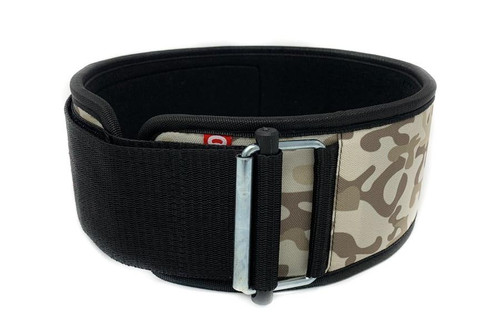 2POOD | SANDBOX CAMO STRAIGHT WEIGHTLIFTING BELT (w/ WODclamp®) WWW.BATTLEBOXUK.COM