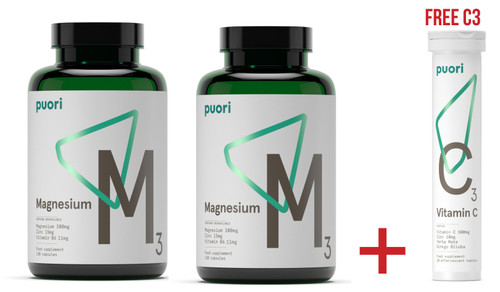 SUMMER DEAL - 2 X Puori M3 Essential Minerals WITH FREE Puori C3 - www.BattleboxUK.com