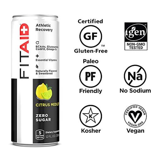 FITAID ® ZERO Sugar Athletic Recovery BCAAS + GLUCOSAMINE + COQ10 + OMEGA 3S CITRUS MEDLEY by LIFEAID ® www.battleboxuk.com