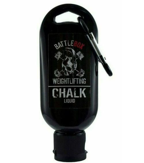 BATTLEBOX WEIGHTLIFTING™ | 50ml Premium Liquid Chalk with Carabiner For Rock Climbing Gymnastics Gym Pole Dancing WeightLifting - www.Battleboxuk.com