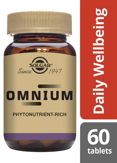 Solgar® | Omnium ® Tablets | Multiple Vitamin & Mineral Formula | Pack of 60 (E2067E) www.battleboxuk.com