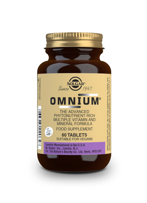 Solgar® | Omnium ® Tablets | Multiple Vitamin & Mineral Formula | Pack of 90 (E2067E) www.battleboxuk.com