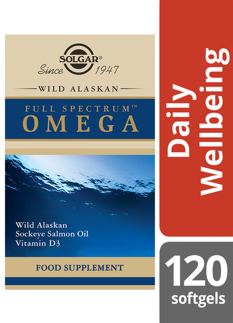 Solgar® | Wild Alaskan Full Spectrum™ Omega Softgels-Pack of 120 (E1110) www.battleboxuk.com