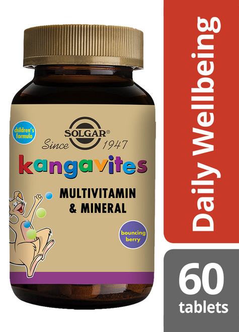 Solgar® | FKangavites ® Complete Multivitamin & Mineral Formula for Children (Bouncing Berry) Chewable Tablets - Pack of 60 (E1015) www.battleboxuk.com